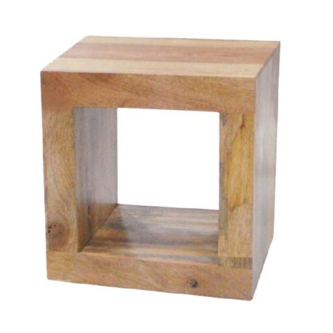 light mango wood cube