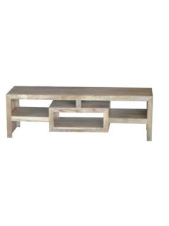 light mango wood tv and media unit