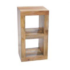 light mango wood two hole cube unit