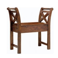 sheesham wood bench with storage place