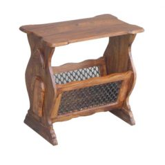 sheesham wood magazine rack table