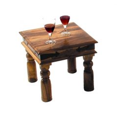 sheesham wood square side table