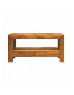 sheesham wood tv unit with drawers