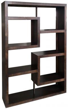 Dark Mango Wood Bookcase Room Divider