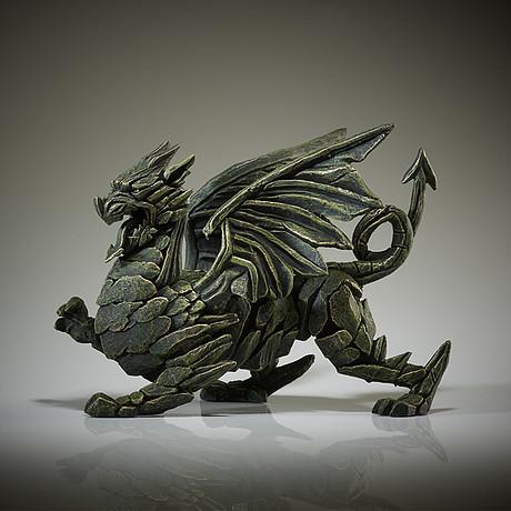 Handpainted Dragon Sculpture