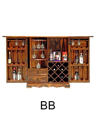 sheesham wood drinks cabinet