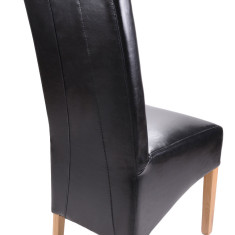 Bonded Leather Black dining chair