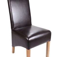 Bonded Leather Brown dining chair