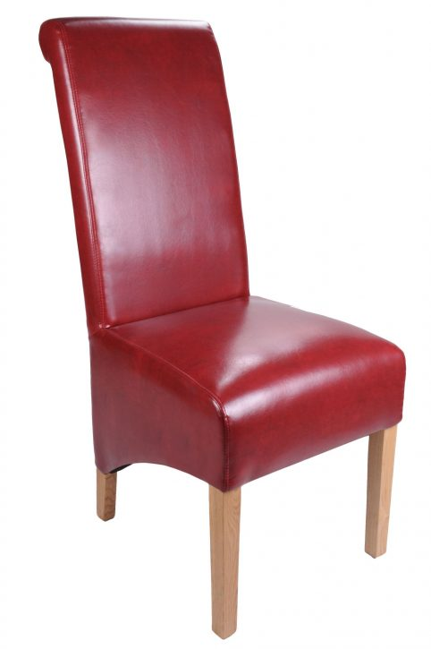 Bonded Leather Burgundy dining chair