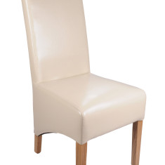 Bonded Leather Ivory dining chair