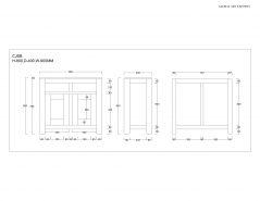 schematics of sheesham sideboard