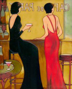 Cafe de Paris glass tile