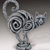 White cat sculpture