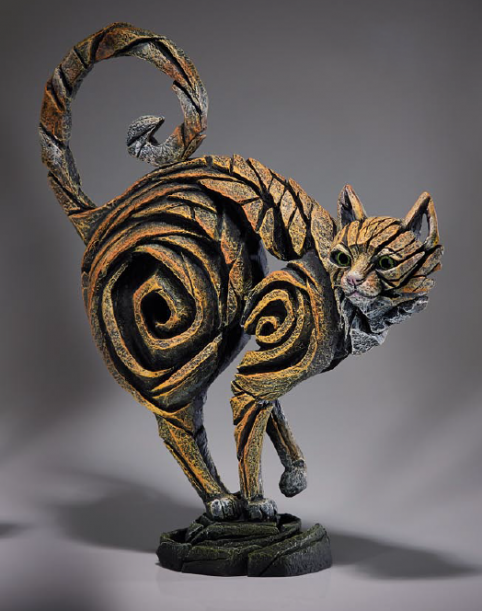 Ginger cat sculpture from UK