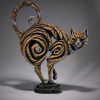 Ginger cat sculpture