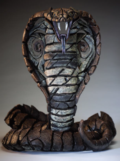 Hand Painted Contemporary King Cobra Sculpture made in UK