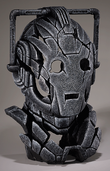 Cyberman bust sculpture