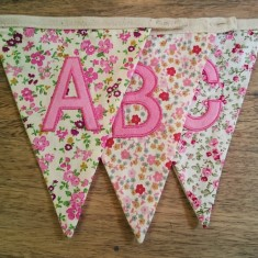 ABC bunting letters