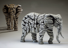 Handpainted Contemporary Elephant Sculpture UK