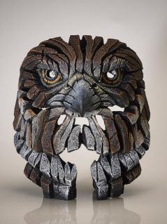Handpainted Contemporary Falcon Bust sculpture from the UK