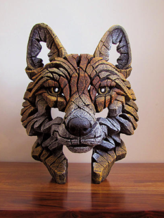 Hand painted Contemporary Fox Bust sculpture from the UK