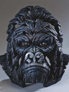 Hand painted Contemporary Gorilla Bust sculpture made in UK