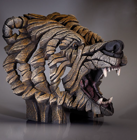 Grizzly Bear bust sculpture