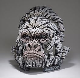 Hand Painted Gorilla Sculpture made in UK white color