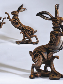 Hand Painted Contemporary Hare Sculpture from the UK