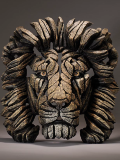 Handpainted Lion bust sculpture from UK
