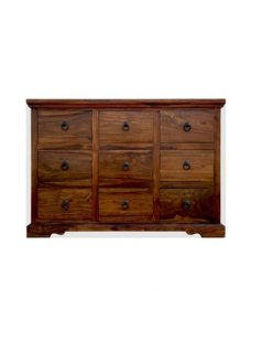 Sheesham wood Chest of 9 Drawers