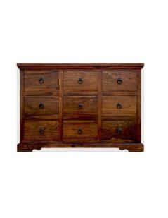 Sheesham wood Chest of 9 Drawers