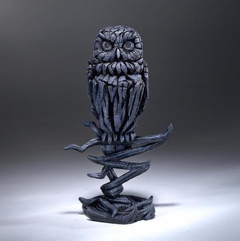 Blue Owl Sculpture