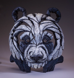 Handpainted Panda bust sculpture from UK