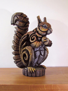 Hand Painted Contemporary Squirrel Sculpture Made in UK