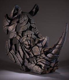 Rhinoceros black sculpture