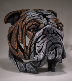 Bulldog bust sculpture from UK