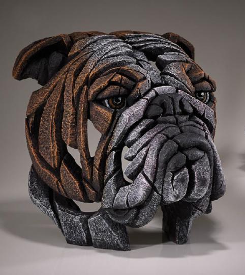 Bulldog bust sculpture from UK