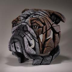 Bulldog bust sculpture