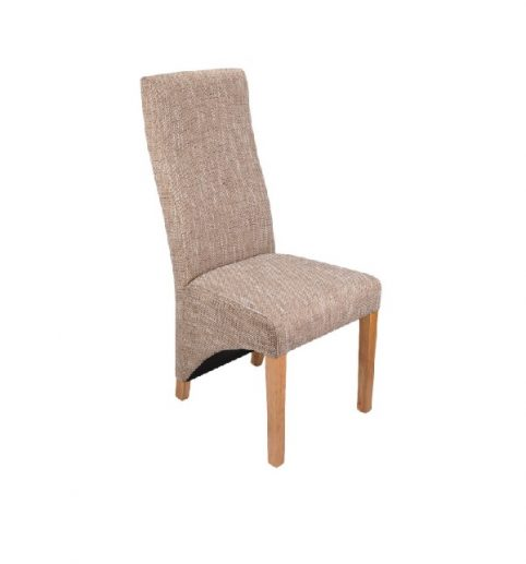Tweed-effect fabric dining chair
