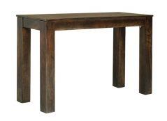 dark mango wood console table