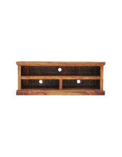 sheesham wood 3 shelf tv unit