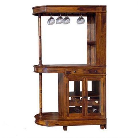 large sheesham wood drinks cabinet