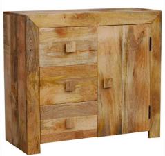 light mango wood 2-door 3-drawer sideboard
