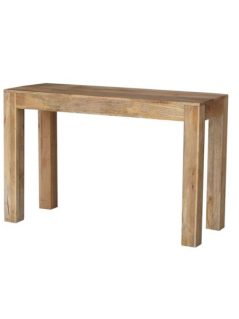 light mango wood console table
