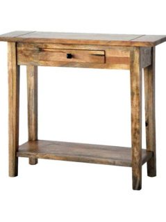 light mango wood hall table with drawer