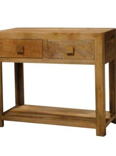 light mango wood console table with two drawers_2