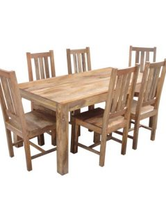 light mango wood large dining table