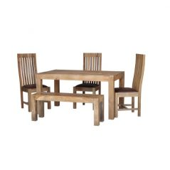 light mango wood medium dining table
