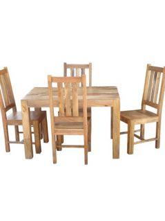 light mango wood small dining table